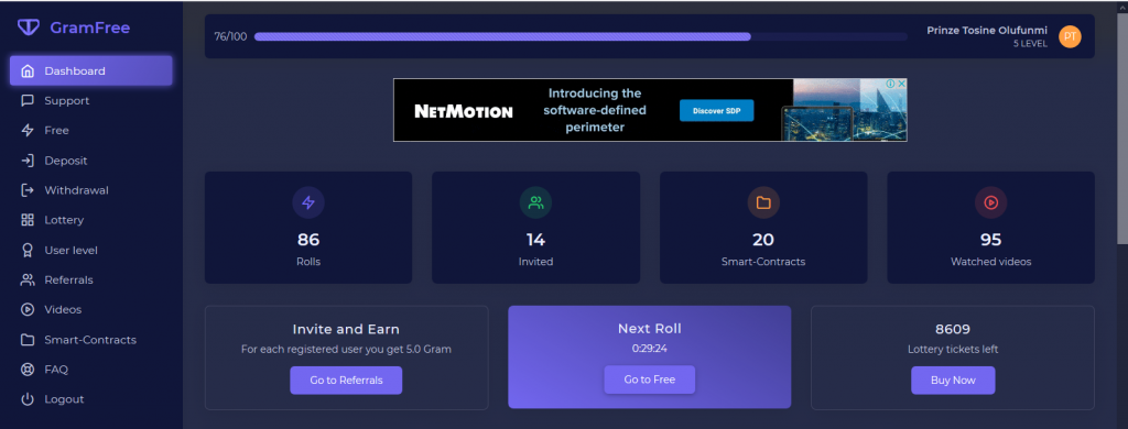 Earn Money Online Without Investment With GramFree